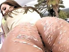 Breathtaking bitch bends down for sex