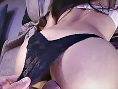 After deep blowjob he choked me with a huge cum load!60p