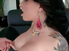 Dirty GF puts a whole monster dick in her mouth