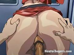 Heavenly hentai blonde nailed in the ass