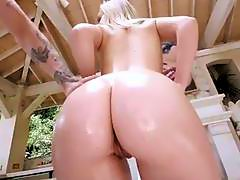 TeenCurves - Curvy Spinner Bounces on Oiled up Cock